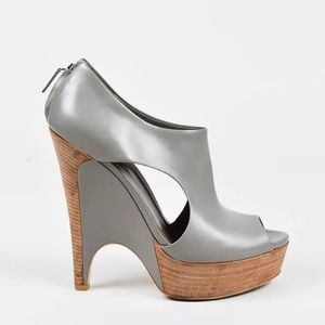 Gray Gucci leather booties